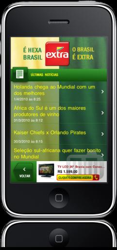 Torcida Extra no iPhone