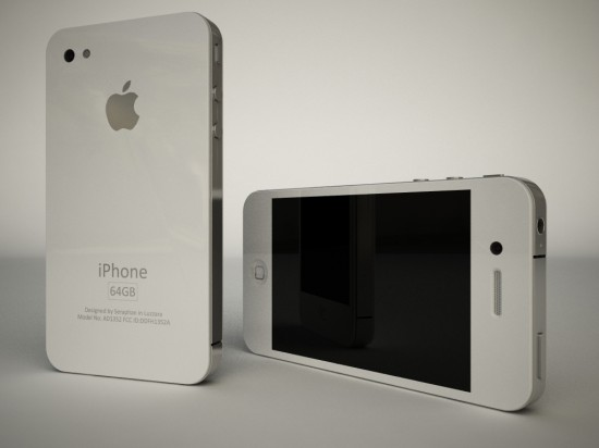 Render de iPhone 4G branco
