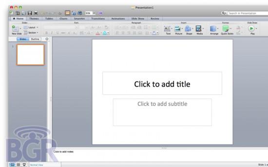 Microsoft Office 2011 para Mac Beta 2 no BGR