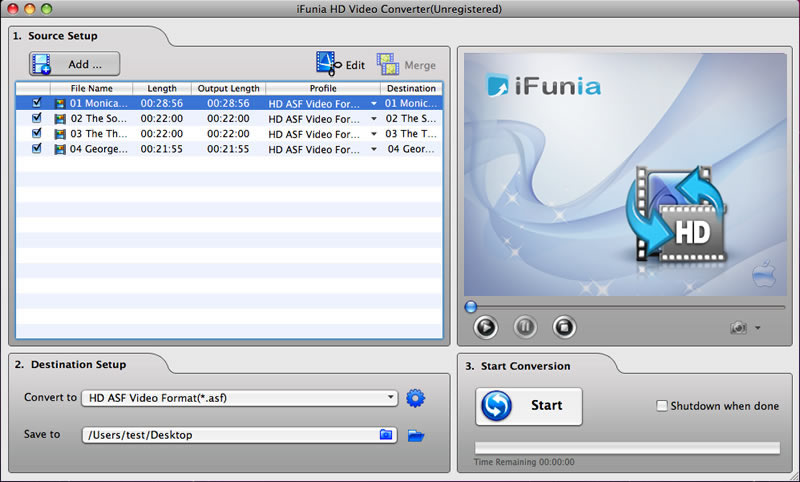 iFunia HD Video Converter para Mac