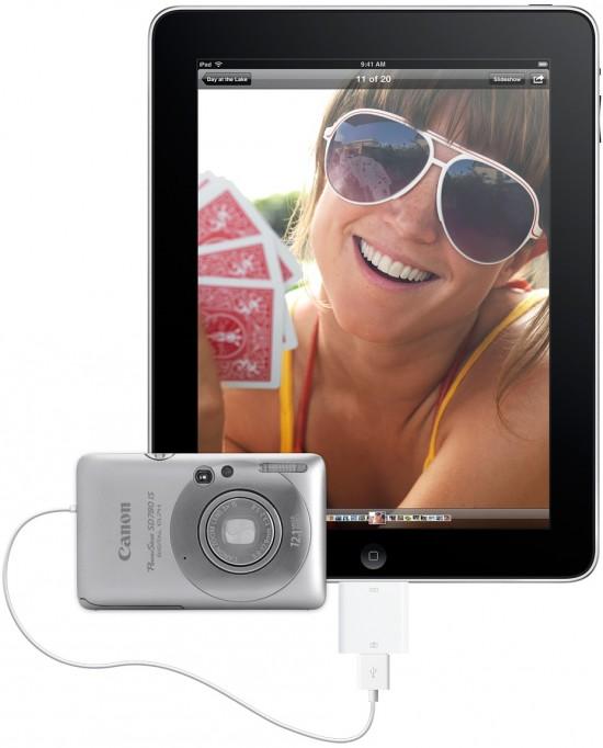 iPad Camera Connection Kit conectado à câmera da Canon