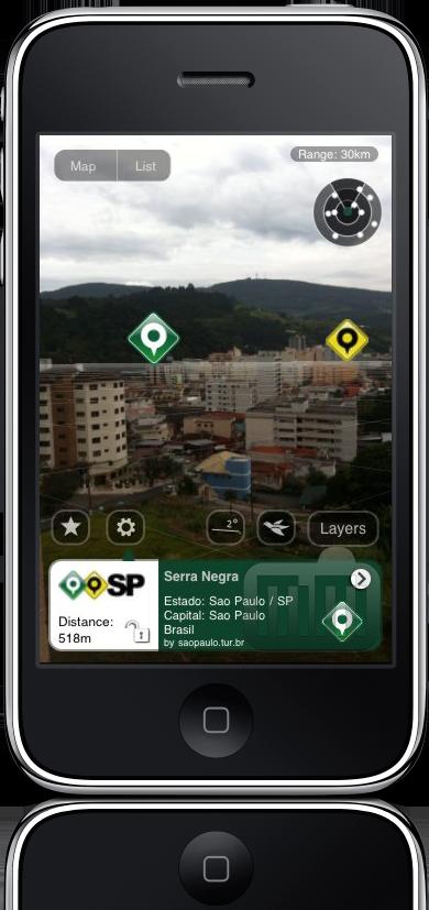 Cidades de São Paulo no Layar para iPhone