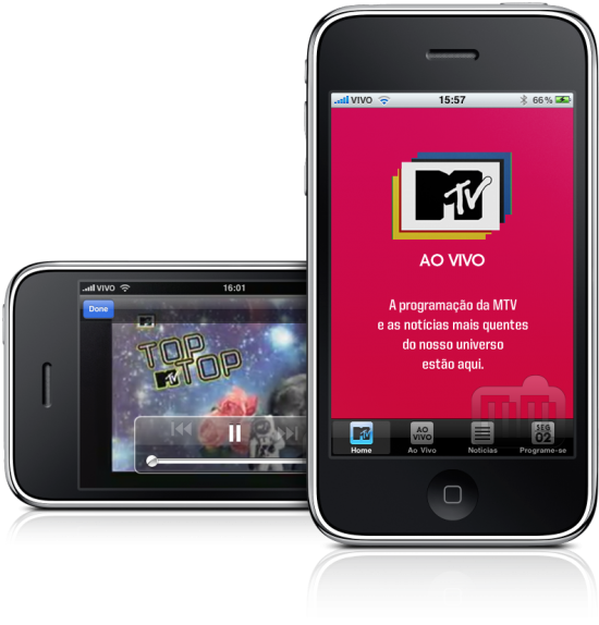 MTV Ao Vivo em iPhones