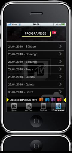MTV Ao Vivo no iPhone