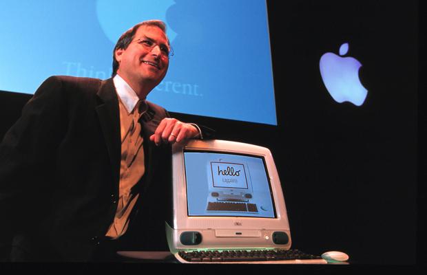 Steve Jobs anunciando o primeiro iMac G3
