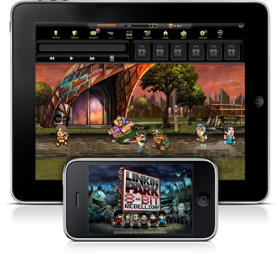 Linkin Park 8-Bit Rebellion! no iPad e no iPhone