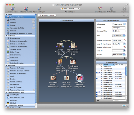 MacFamilyTree no Mac OS X