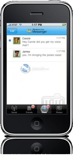 Windows Live Messenger no iPhone