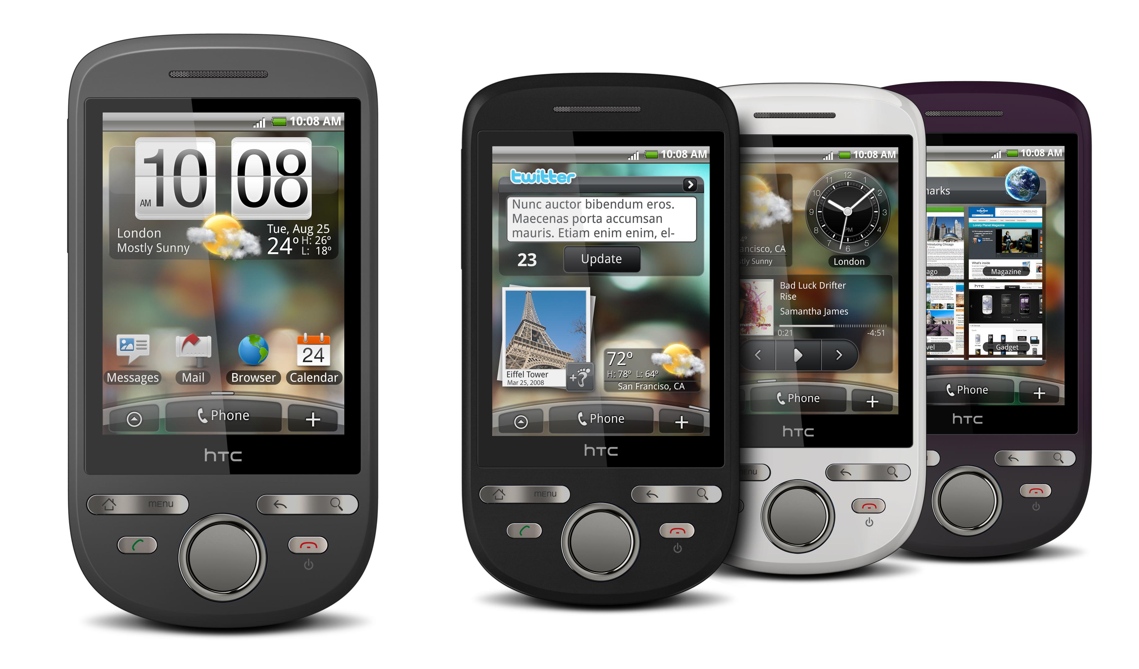 Smartphones da HTC com Google Android