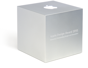 Caixinha do Apple Design Awards 2010, na WWDC