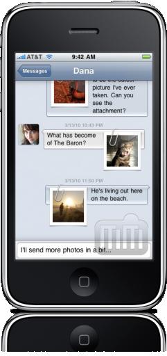 Textie no iPhone