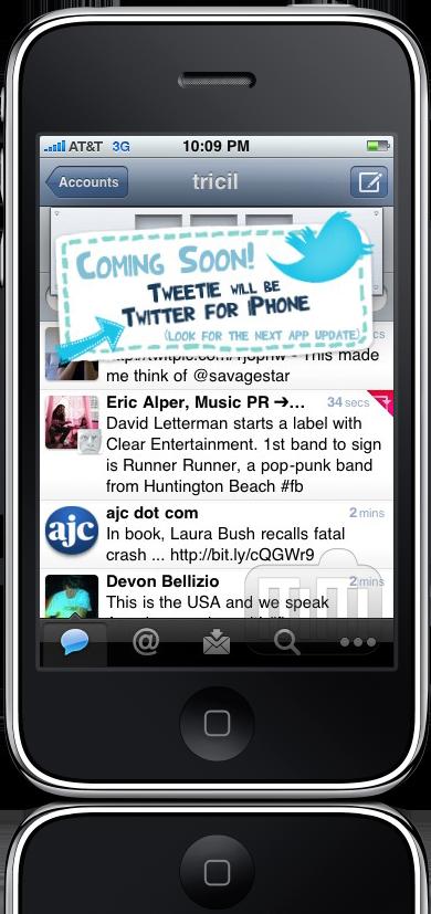 Easter egg do Tweetie 2.1.2 para iPhone