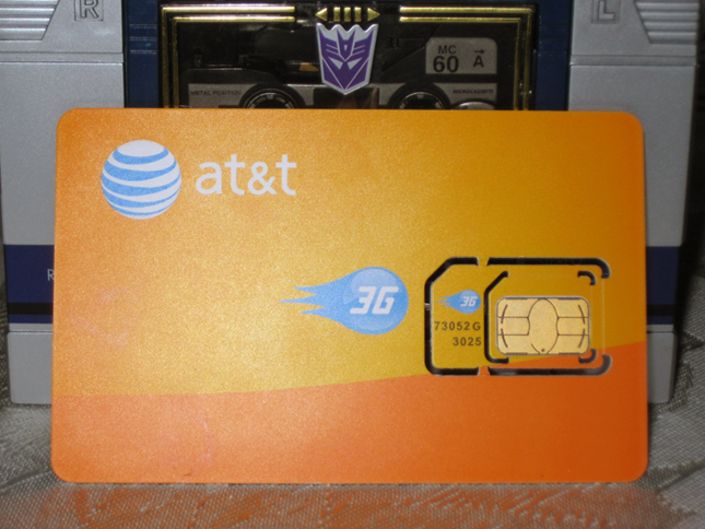 Micro-SIM e SIM card da AT&T