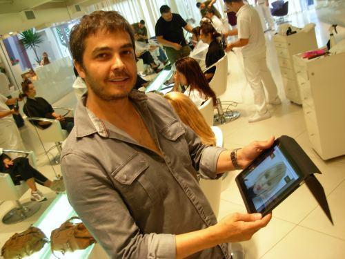 iPad em salão de beleza