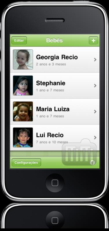 BabyNotes no iPhone