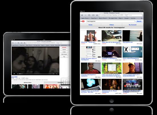 YouTube.com no iPad