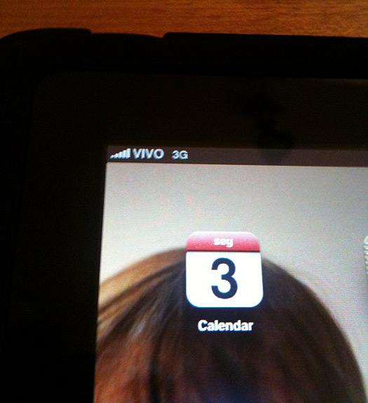 iPad 3G rodando na Vivo