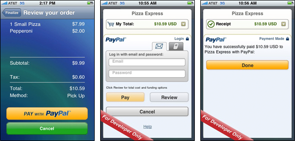 PayPal via In-App Purchases no iPhone