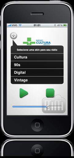 Rádio Cultura no iPhone