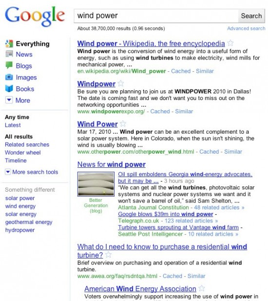 Novo visual de buscas do Google