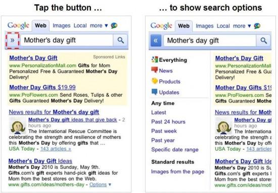 Novo visual de buscas do Google for mobile