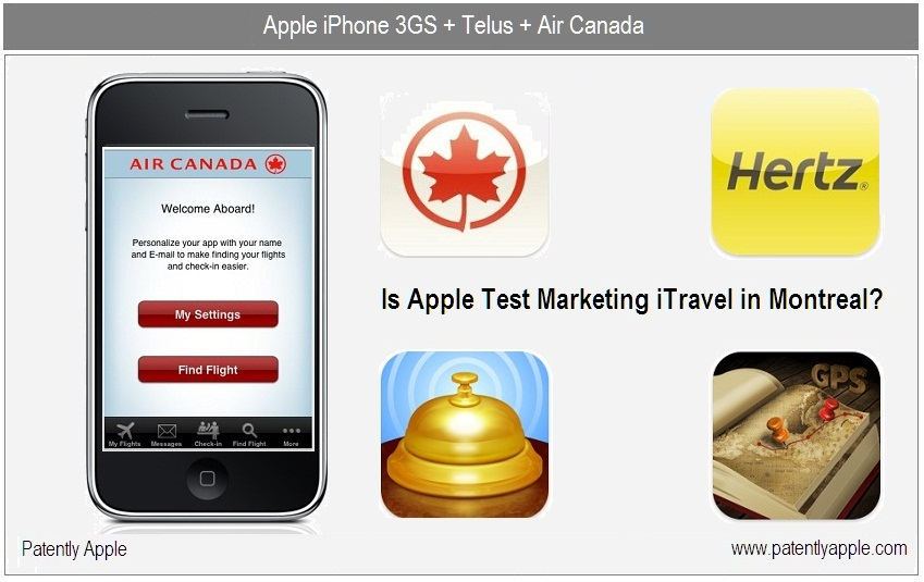 Apple testando iTravel em Montreal?