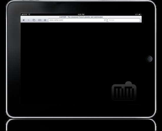 Site da Cartier no iPad
