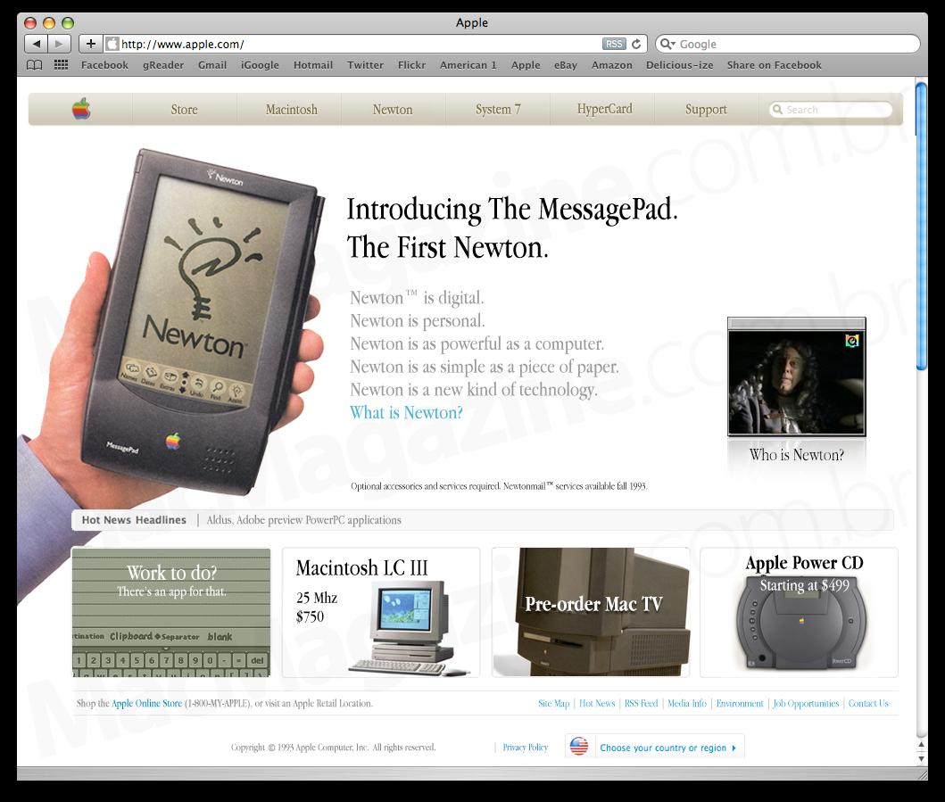 Apple.com em 1993