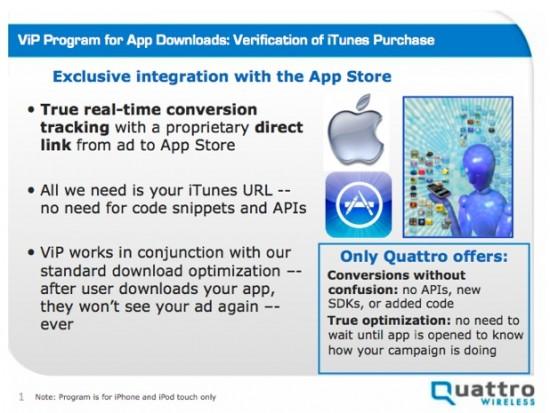 Apple e Quattro: ViP (Verification of iTunes Purchase)