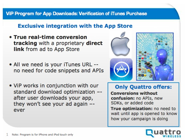 Apple e Quattro: ViP (Verification of iTunes Purchase)