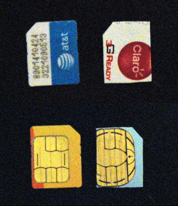 Chip da Claro cortado para o formato Micro-SIM