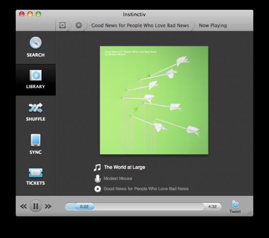 Instinctiv no Mac OS X