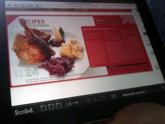 Scribd rodando num iPad em HTML5