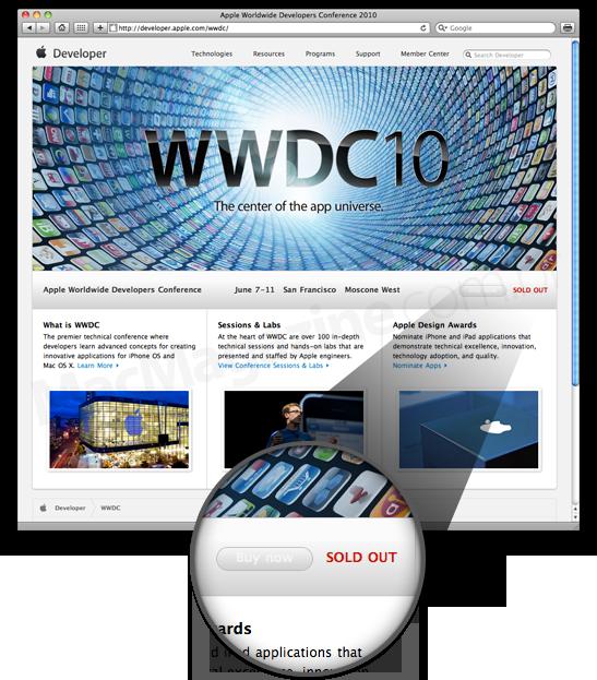 Ingressos esgotados para a WWDC '10