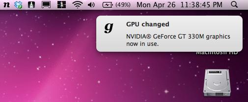 gfxCardStatus, chipsets gráficos de MacBooks Pro