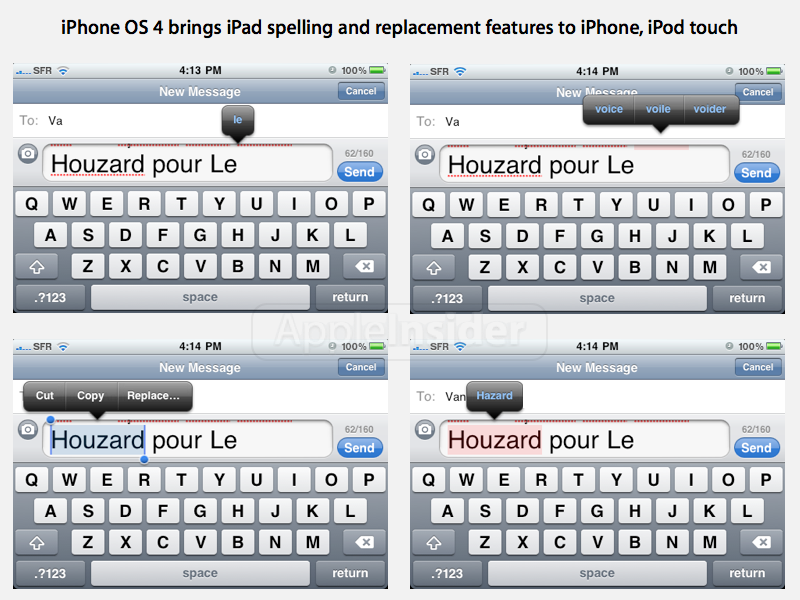 Correção ortográfica no iPhone OS 4