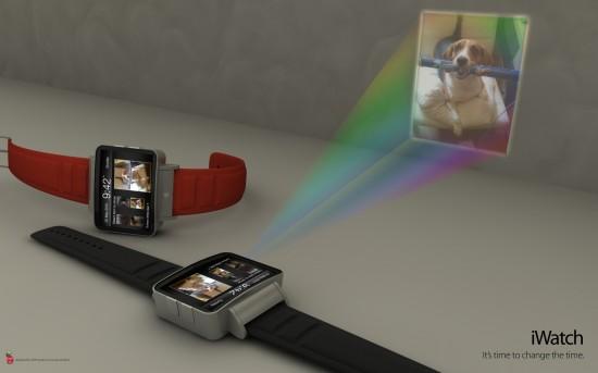 iWatch, mockup de relógio de pulso da Apple