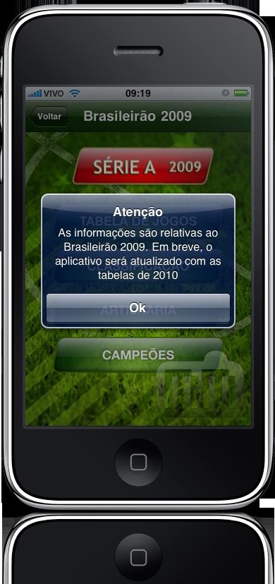 Brasileirão 2009 (2010?) da FingerTips no iPhone