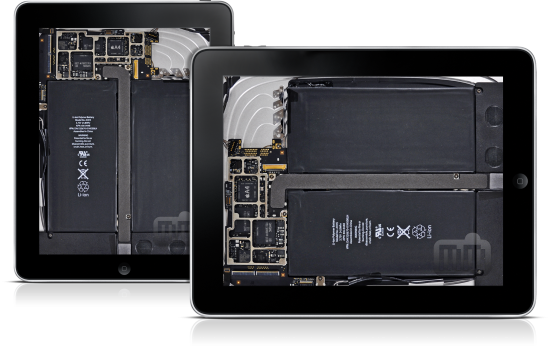 Wallpaper interno do iPad Wi-Fi, via iFixit