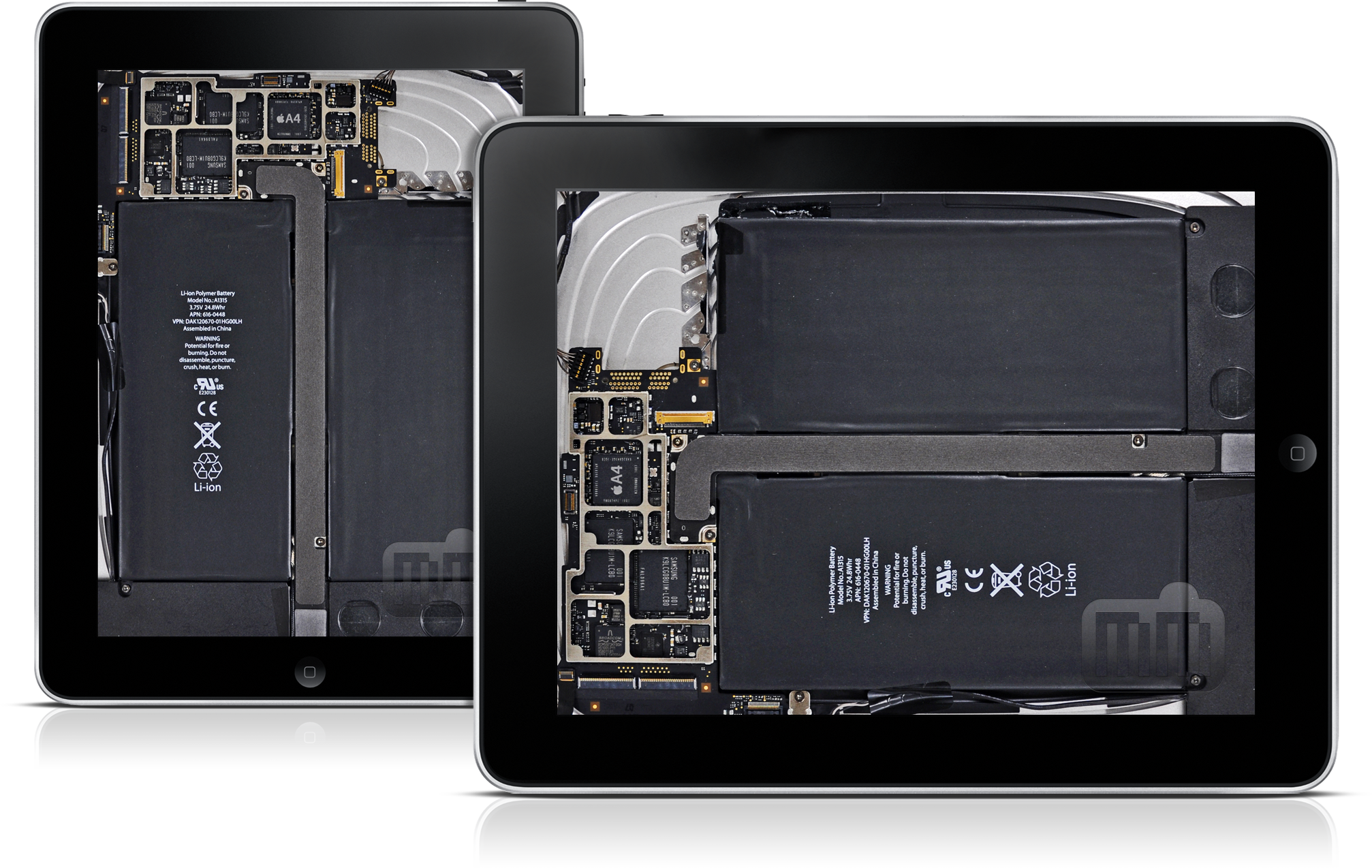 Wallpaper interno do iPad Wi-Fi, via iFixit