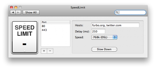 Speed Limit no Mac OS X