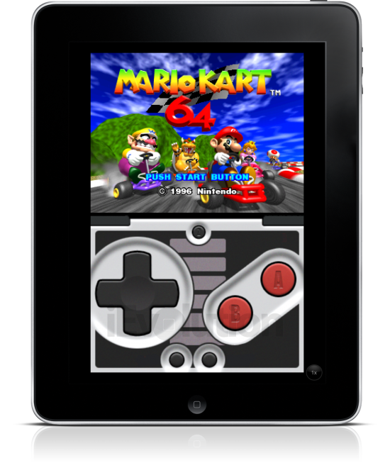 Super Mario Kart de Nintendo 64 no iPad