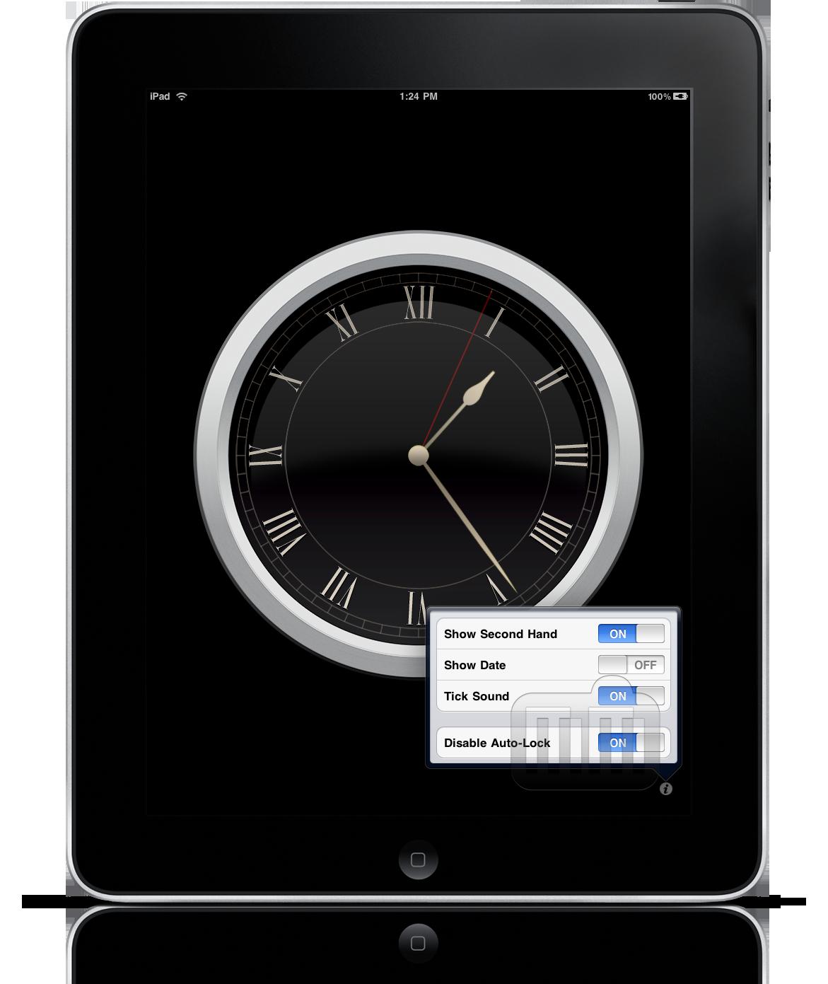 Wall Clock no iPad