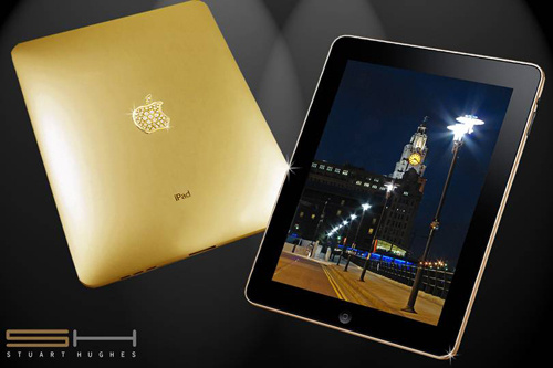 iPad de ouro e diamantes, via Stuart Hughes