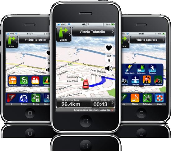 Apontador Navegador em iPhones