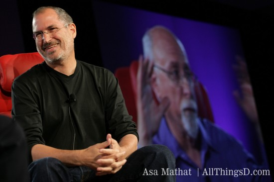 Steve Jobs e Walt Mossberg na D3, All Things Digital