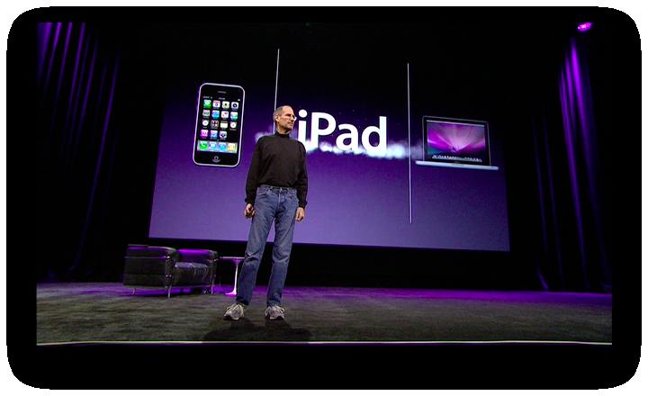 iPad, ao lado de iPhone e Mac em keynote