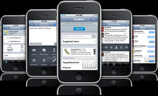 Twitter em iPhones