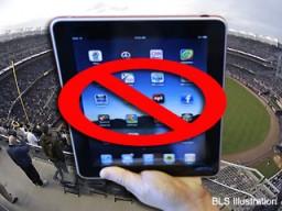 iPad proibido em estádio de beisebol