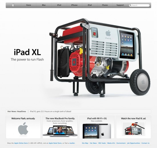 iPad XL, paródia do Scoopertino